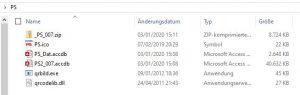 Auflistung der Download Datei